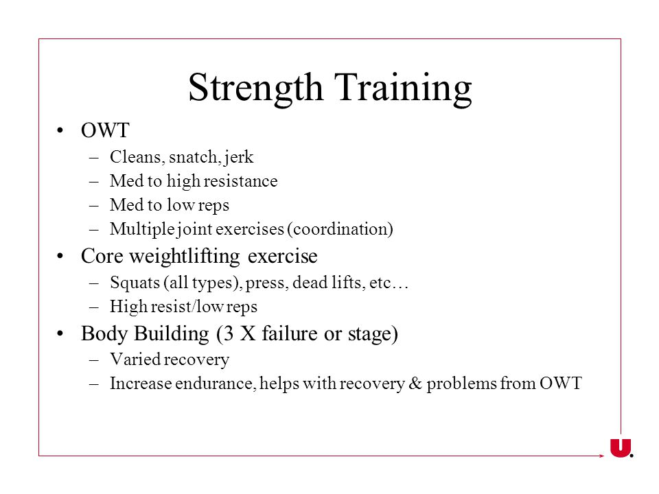 Strength Training OWT Core weightlifting exercise