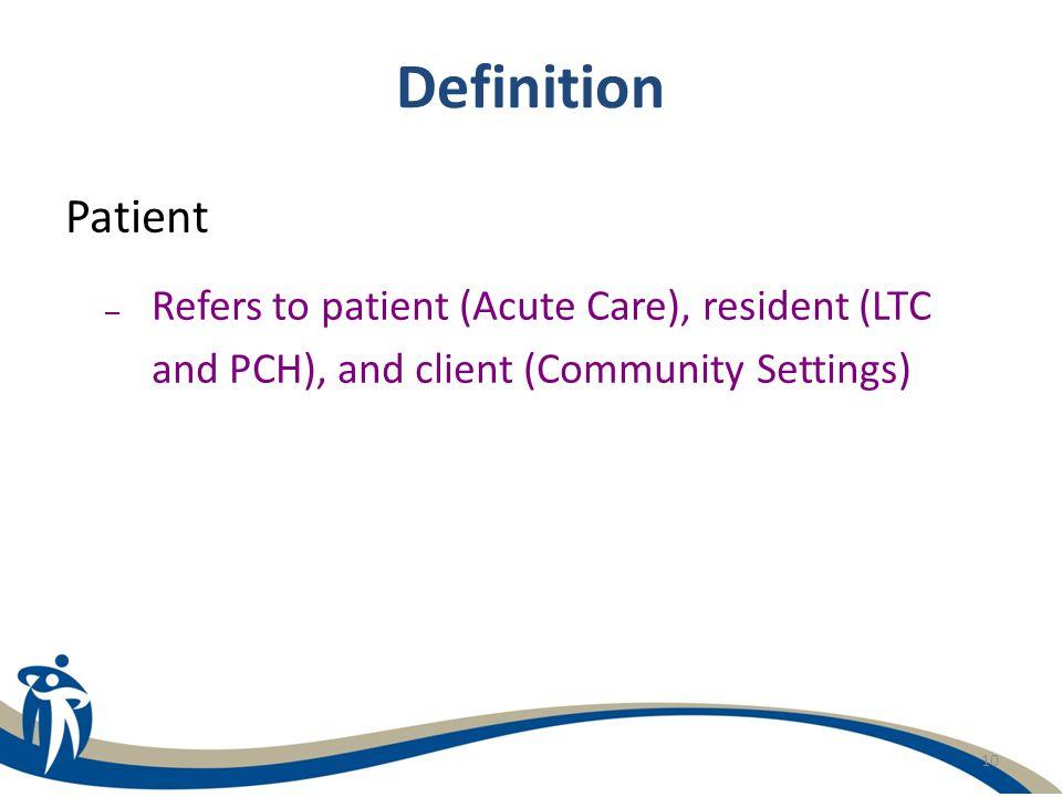 Definition Patient.
