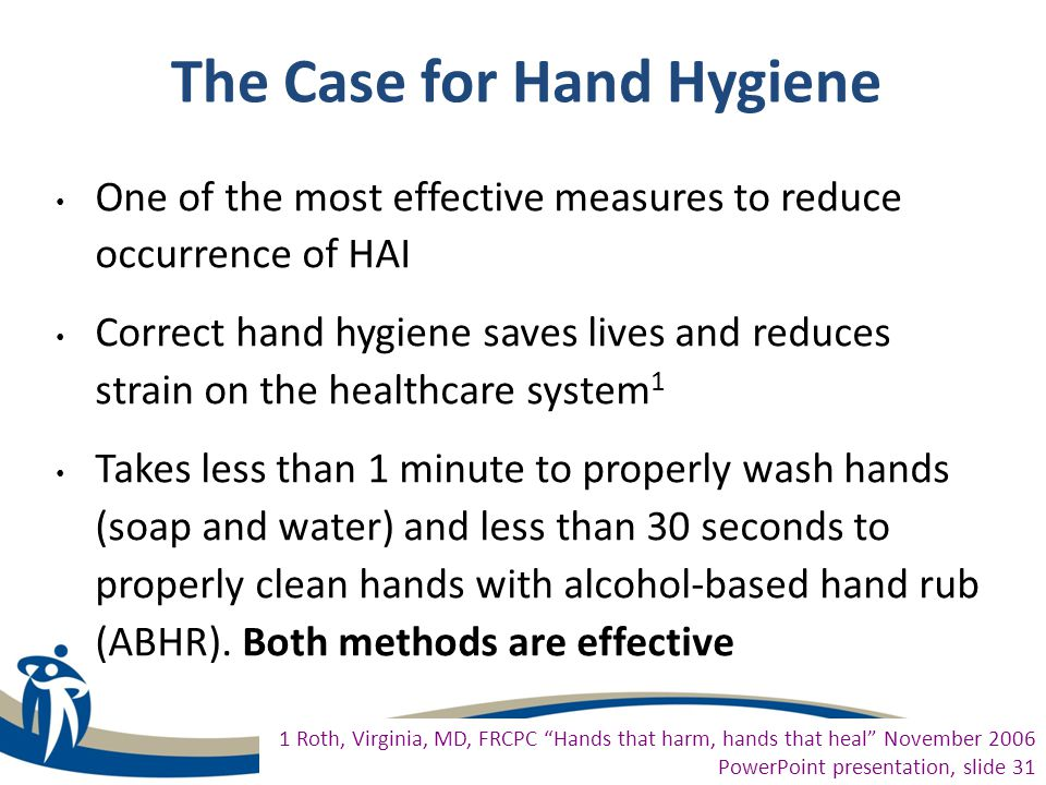 The Case for Hand Hygiene
