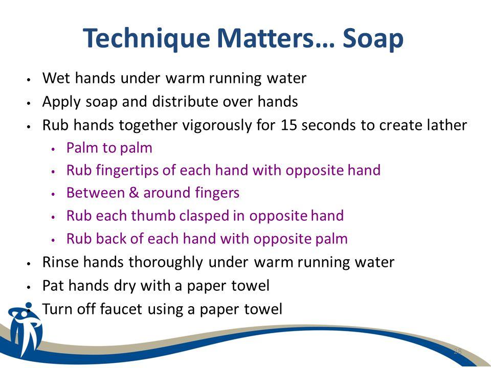 Technique Matters… Soap