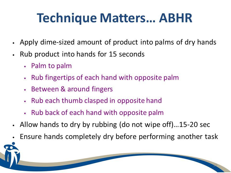 Technique Matters… ABHR