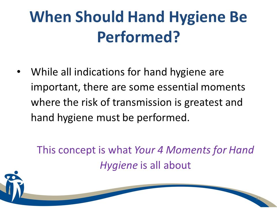 When Should Hand Hygiene Be Performed