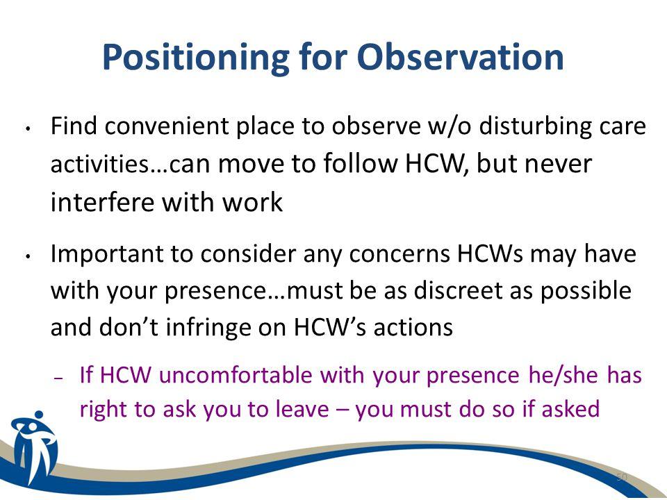 Positioning for Observation