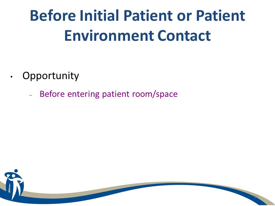 Before Initial Patient or Patient Environment Contact