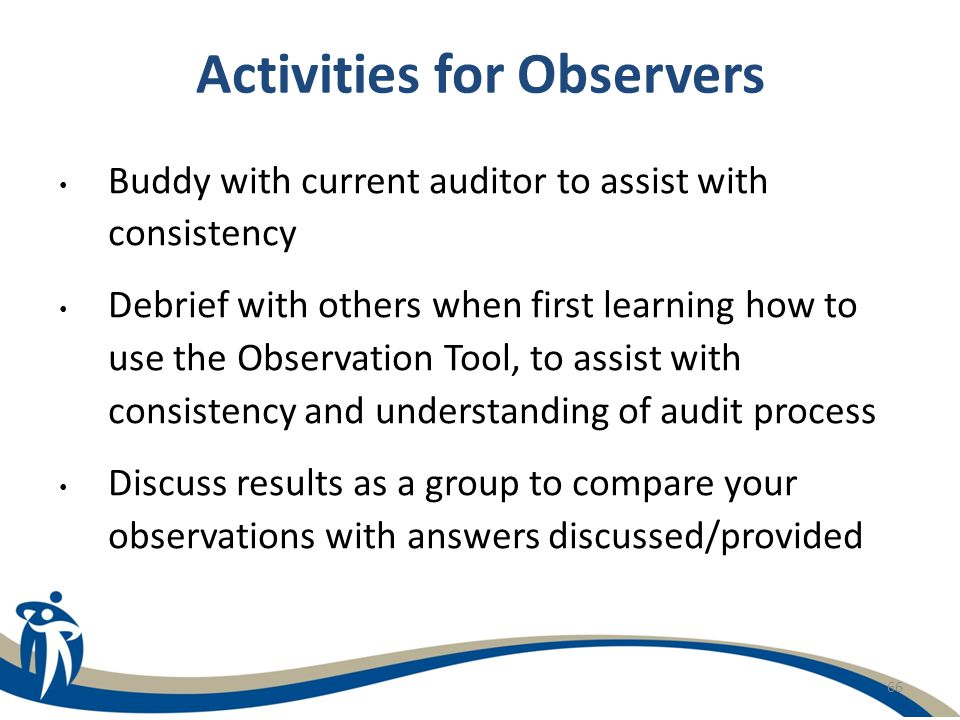 Activities for Observers