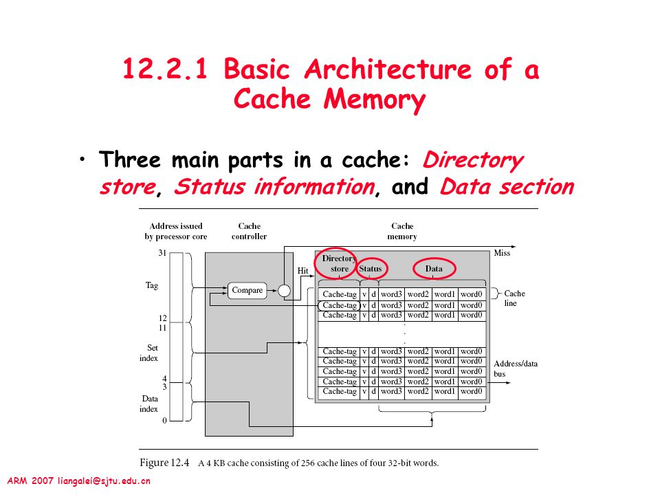 12.2.1 Basic Architecture of a Cache Memory