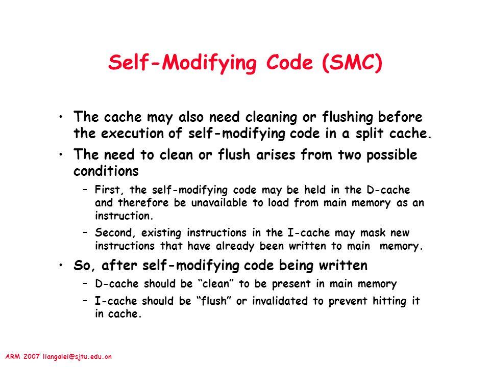 Self-Modifying Code (SMC)