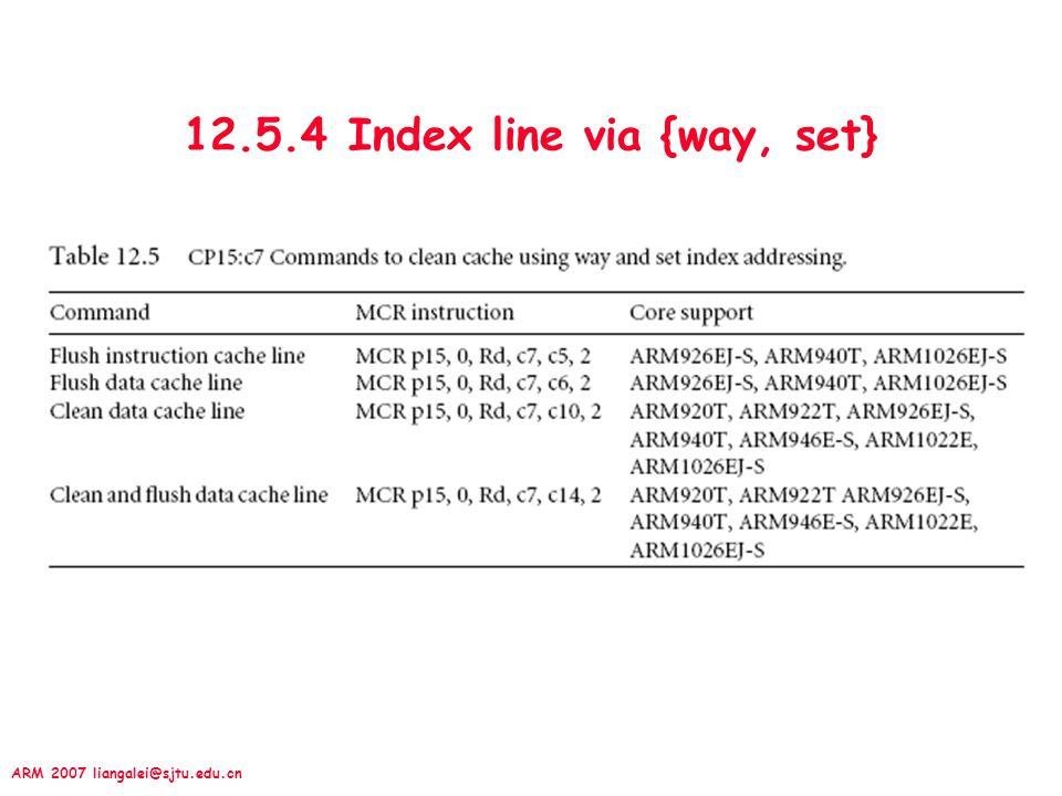 12.5.4 Index line via {way, set}