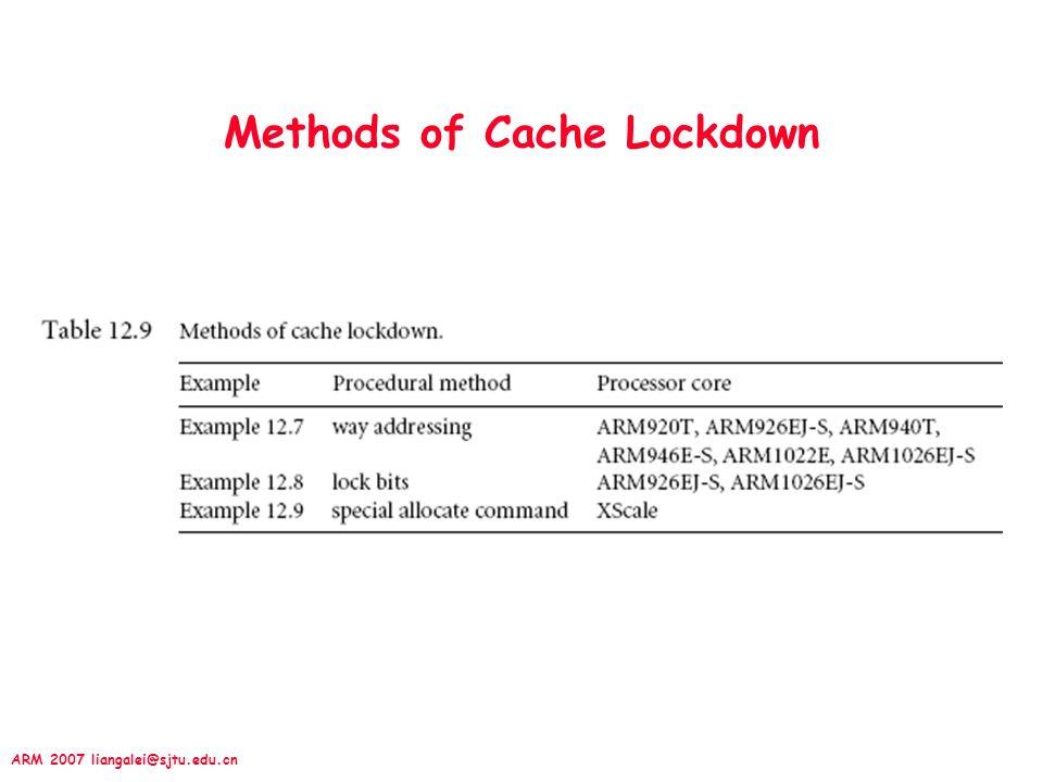Methods of Cache Lockdown