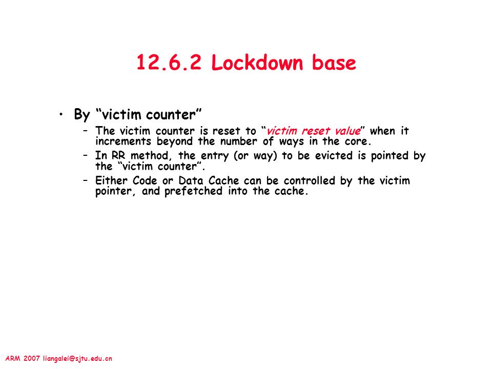 12.6.2 Lockdown base By victim counter