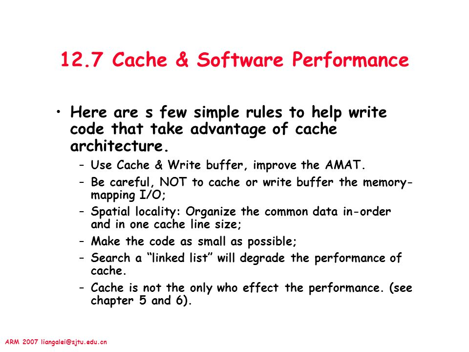 12.7 Cache & Software Performance