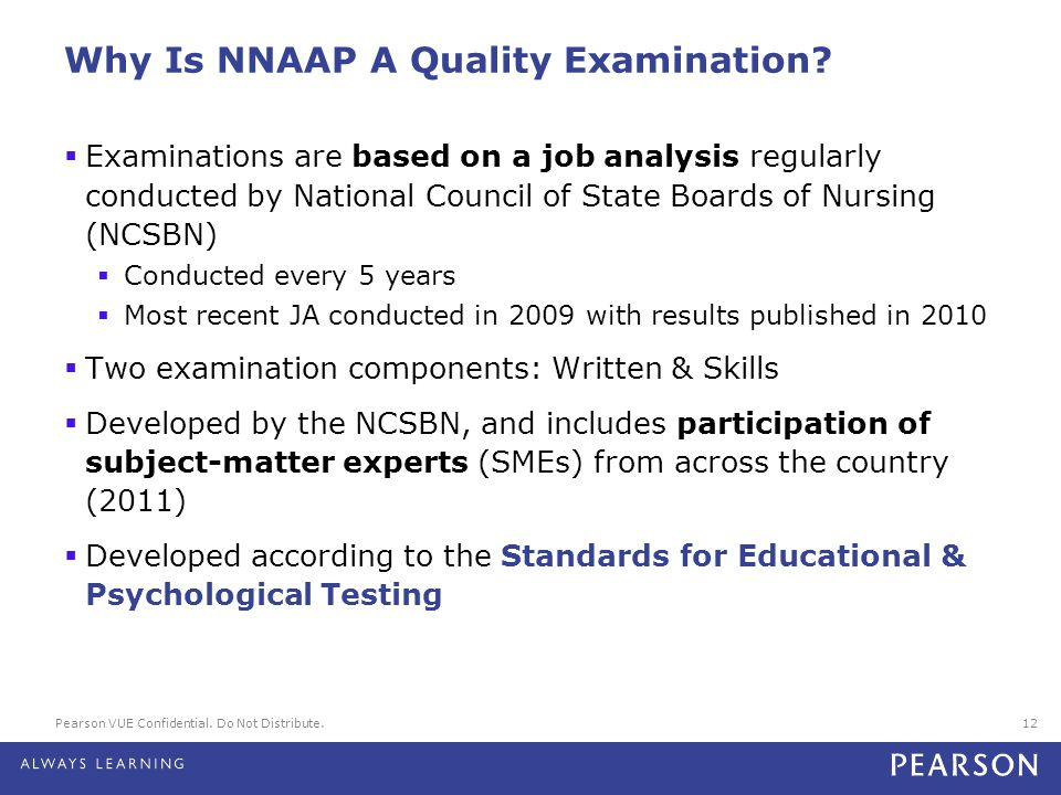 Why Is NNAAP A Quality Examination