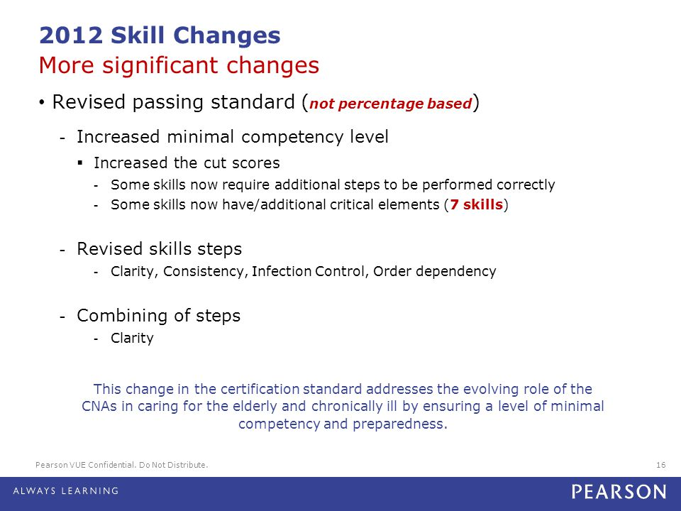 2012 Skill Changes More significant changes