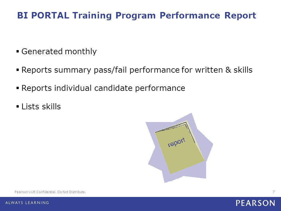 BI PORTAL Training Program Performance Report