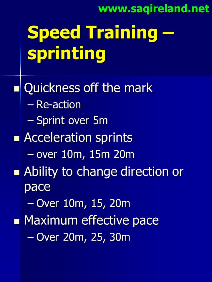 Speed Training – sprinting