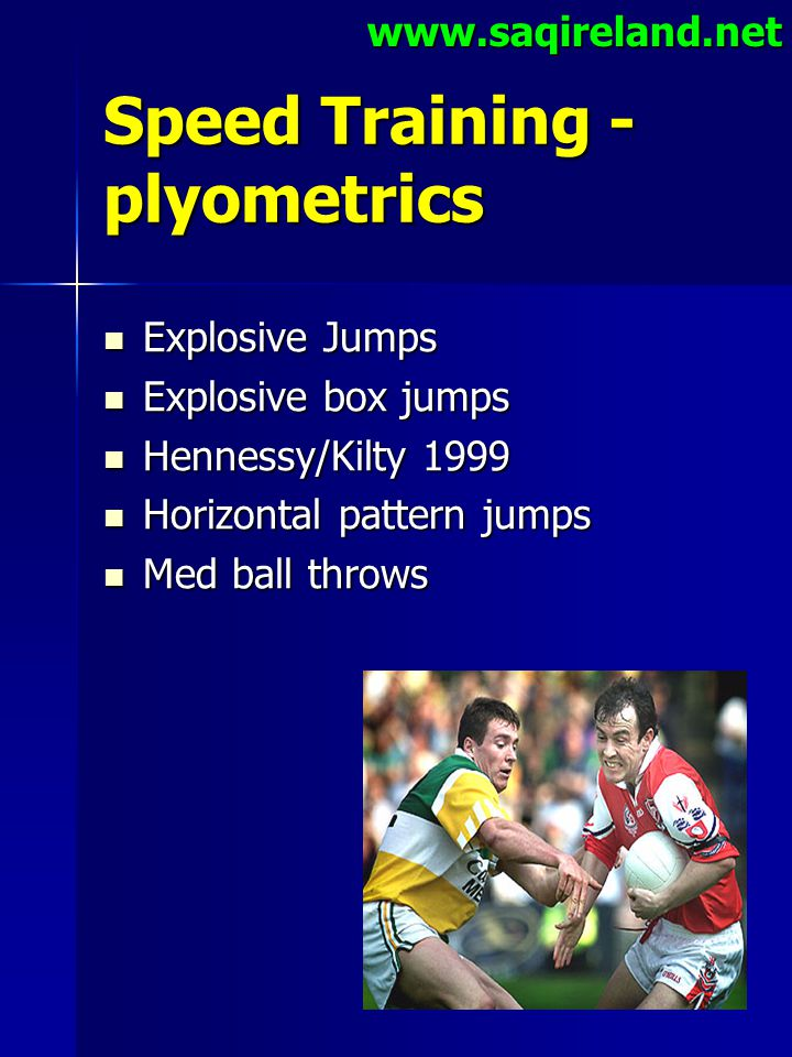 Speed Training -plyometrics
