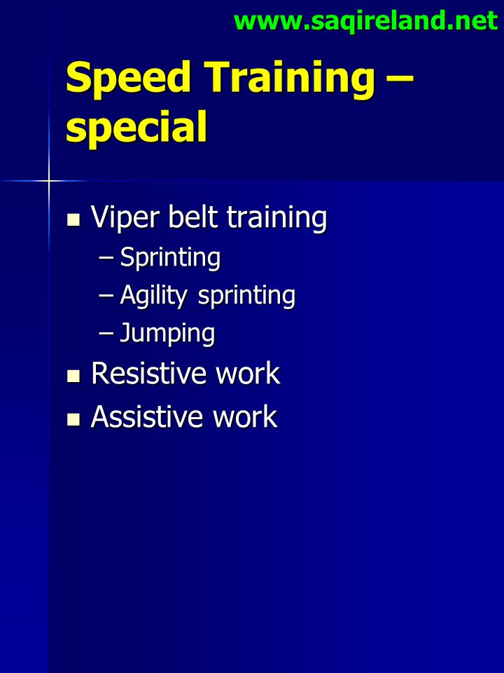 Speed Training – special