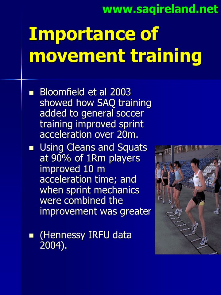 Importance of movement training
