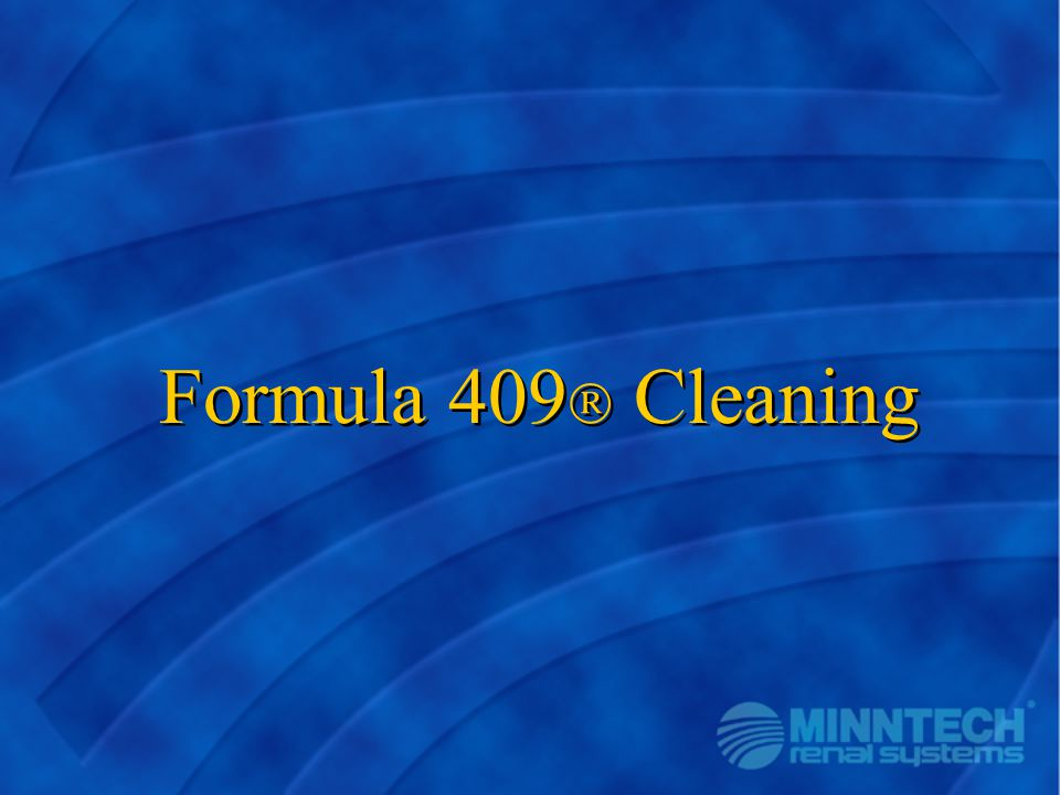 Formula 409 Cleaning