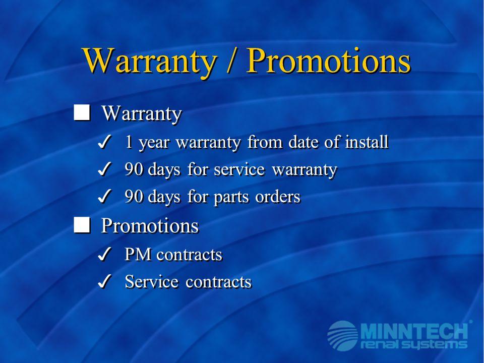 Warranty / Promotions Warranty Promotions