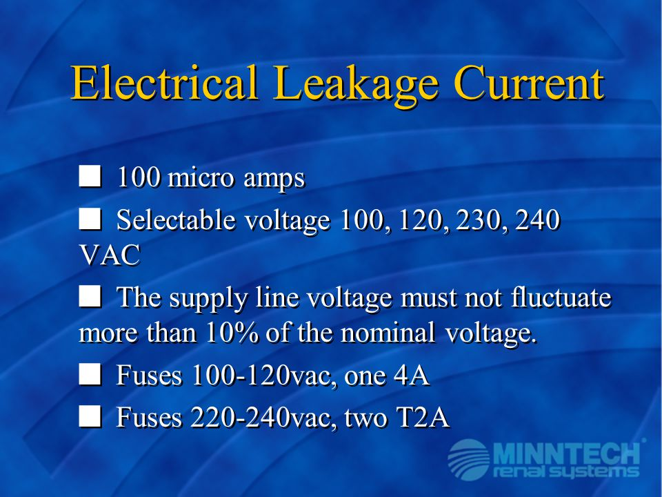Electrical Leakage Current
