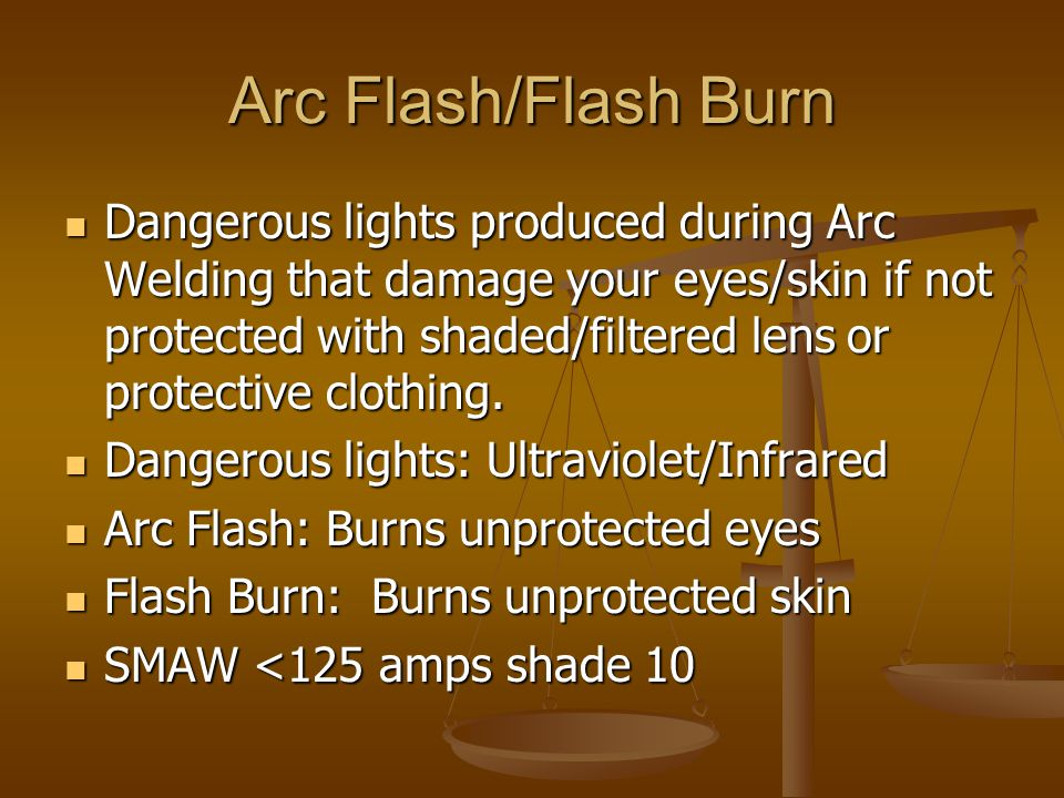 Arc Flash/Flash Burn