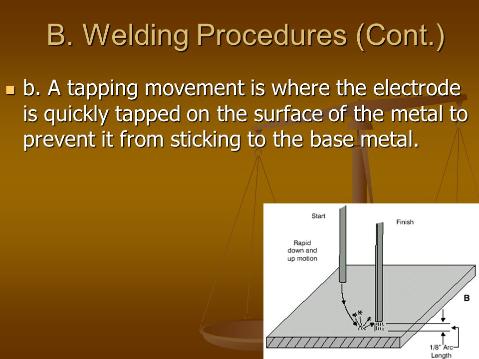 B. Welding Procedures (Cont.)