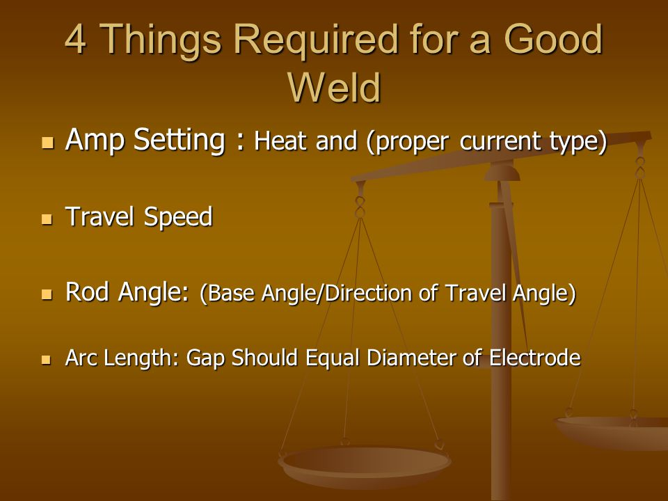 4 Things Required for a Good Weld