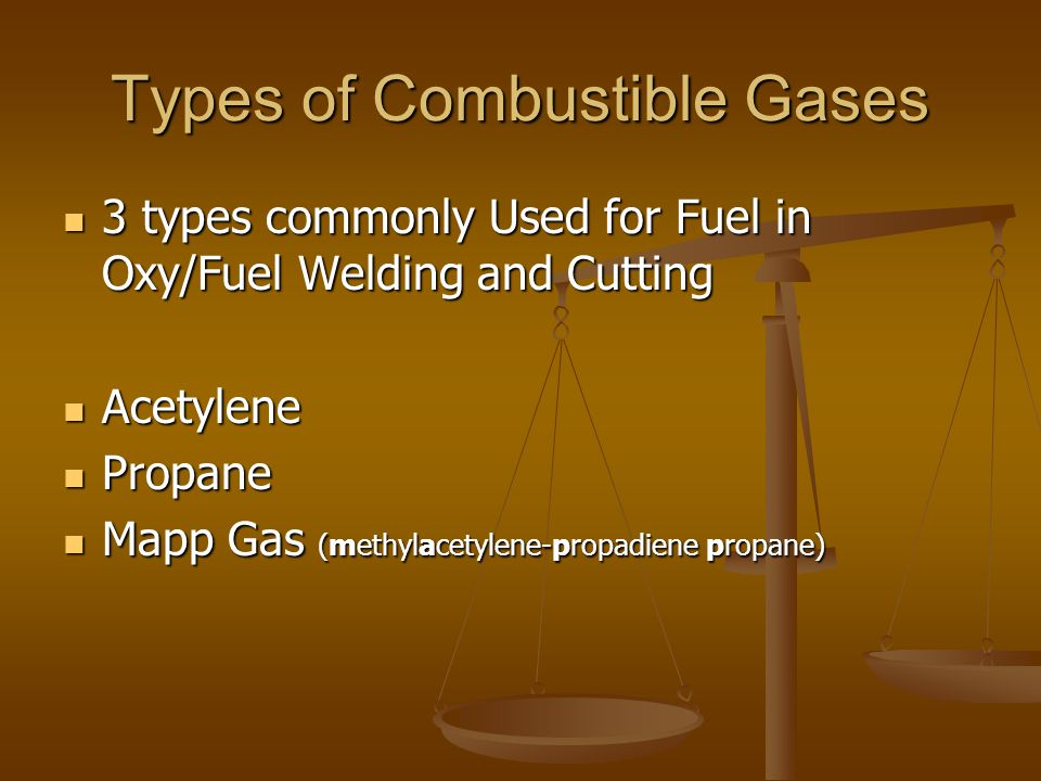 Types of Combustible Gases