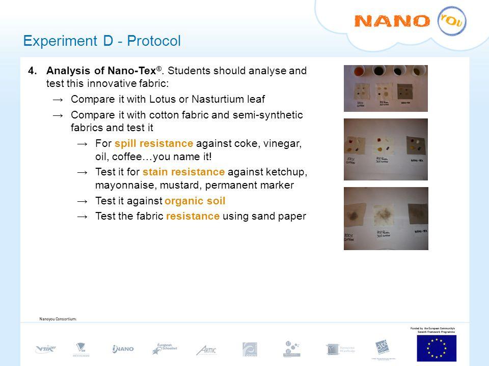 Experiment D - Protocol