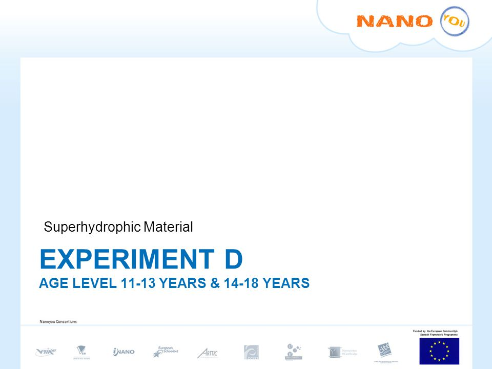 EXPERIMENT D age level 11-13 years & 14-18 years