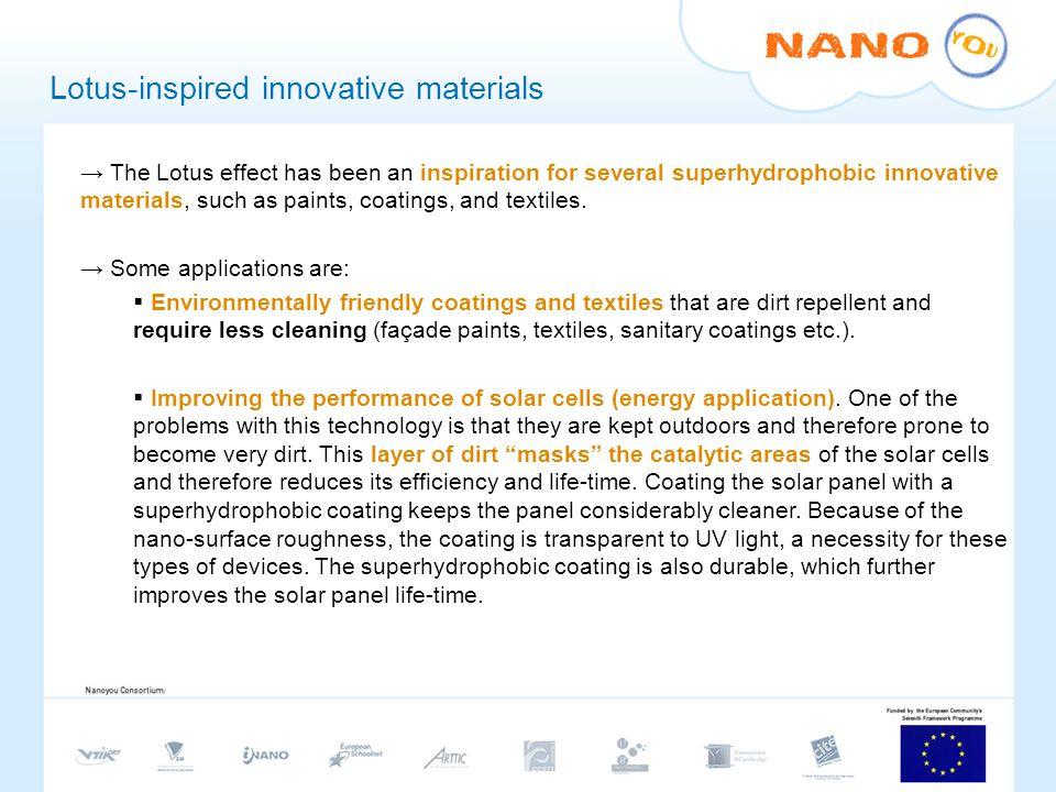 Lotus-inspired innovative materials