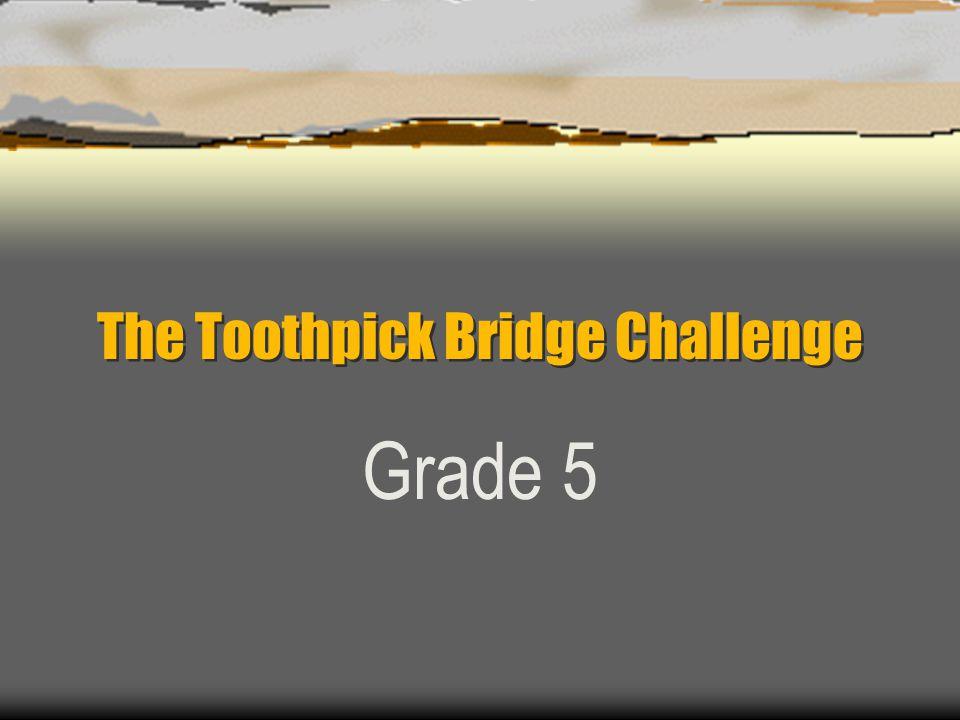 The Toothpick Bridge Challenge