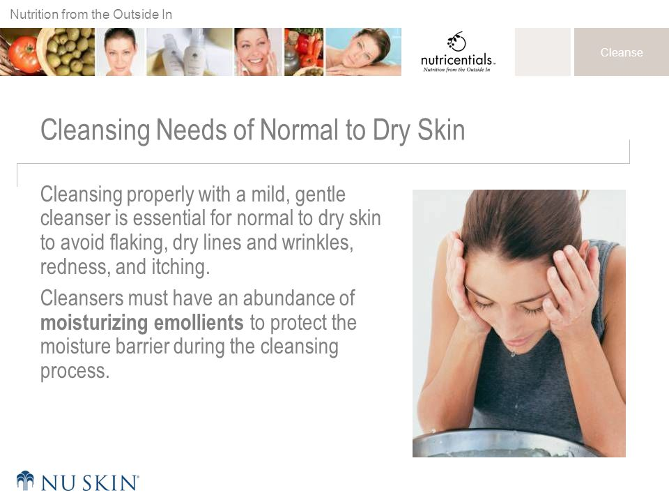 Cleansing Needs of Normal to Dry Skin