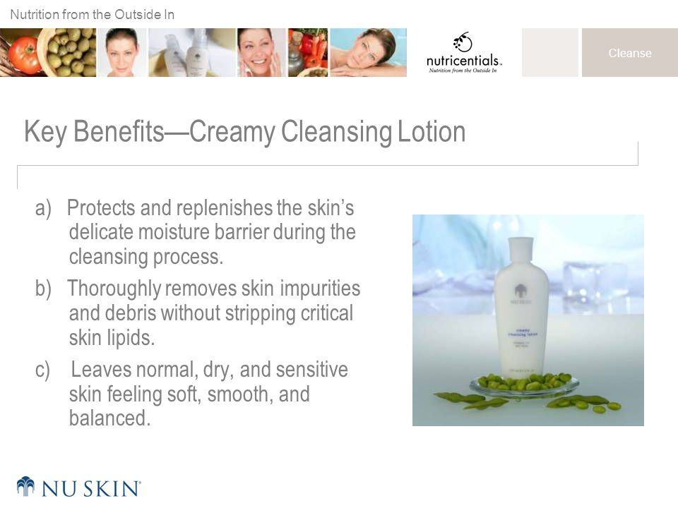 Key Benefits—Creamy Cleansing Lotion