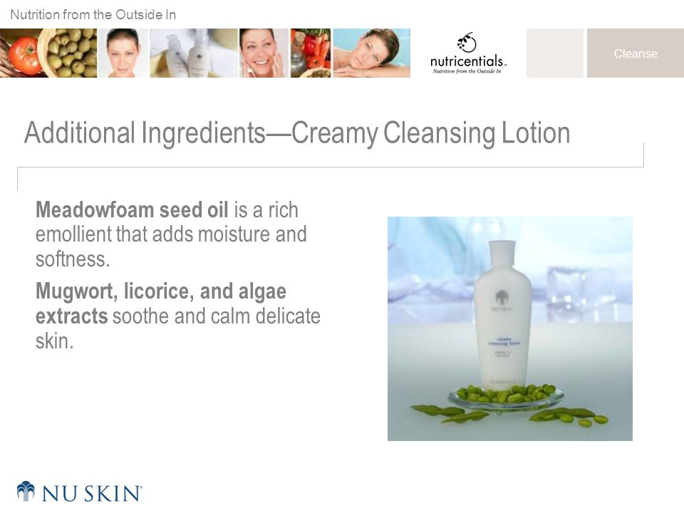 Additional Ingredients—Creamy Cleansing Lotion