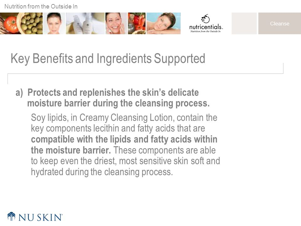 Key Benefits and Ingredients Supported
