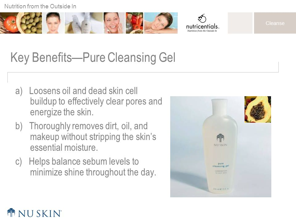 Key Benefits—Pure Cleansing Gel
