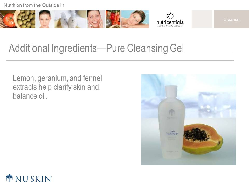 Additional Ingredients—Pure Cleansing Gel