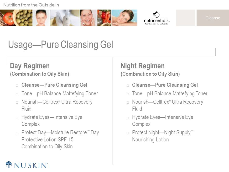 Usage—Pure Cleansing Gel