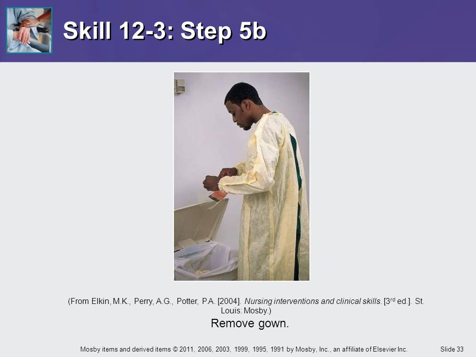 Skill 12-3: Step 5b Remove gown.