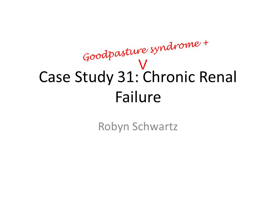 Chronic Kidney Disease Undergradute Case Study  Nutrition and Diet T