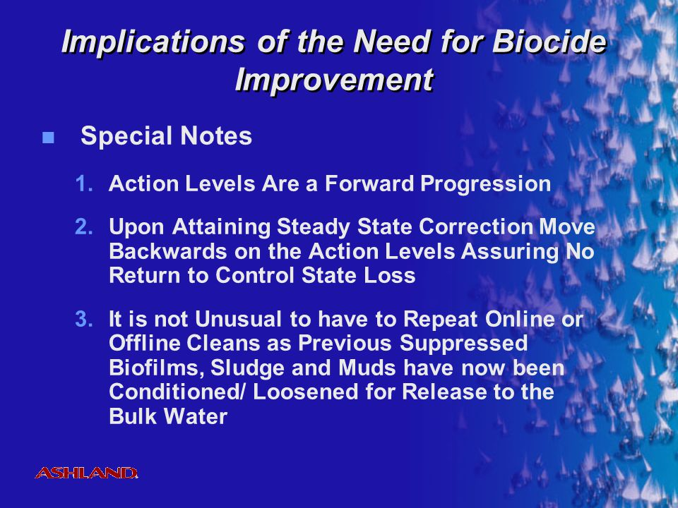 Implications of the Need for Biocide Improvement