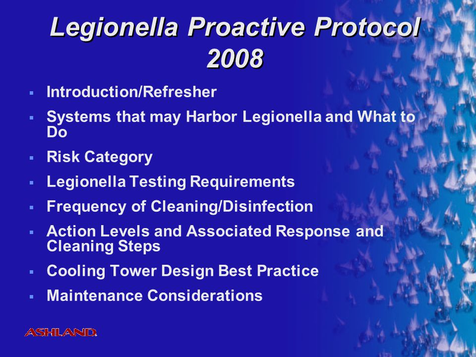Legionella Proactive Protocol 2008