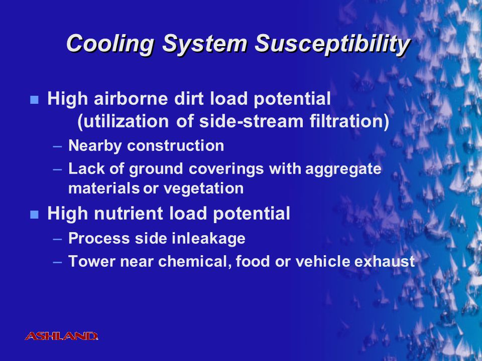 Cooling System Susceptibility