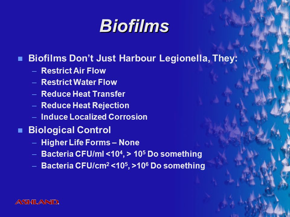 Biofilms Biofilms Don't Just Harbour Legionella, They: