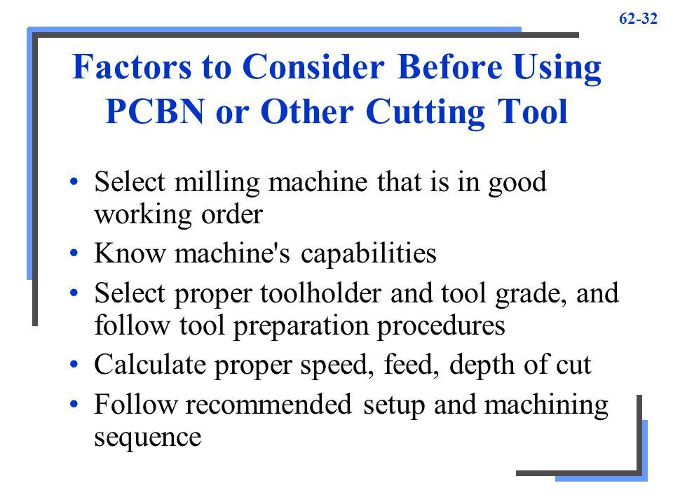 Factors to Consider Before Using PCBN or Other Cutting Tool