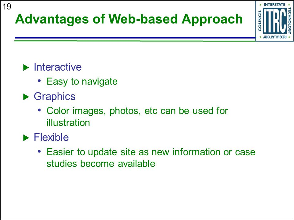 Advantages of Web-based Approach
