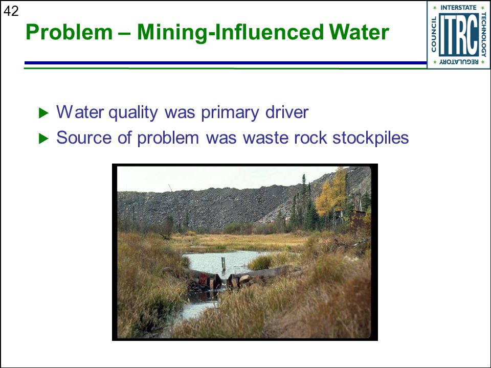 Problem – Mining-Influenced Water