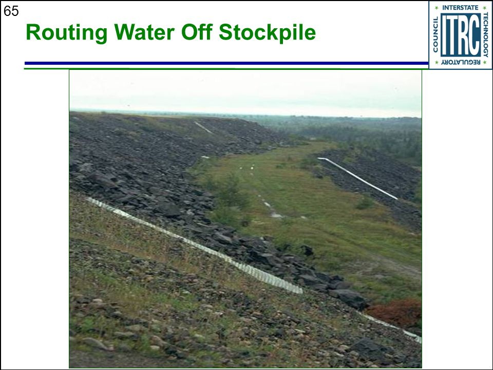 Routing Water Off Stockpile